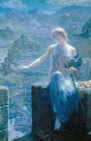 "Эдвард Роберт Хьюз, ""Дозор валькирии"" Edward Robert Hughes The Valkyrie's Vigil Datе: before 1915"
